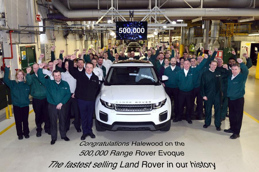 Photo of Range Rover, 500,000'inci Evoque'u kutladı