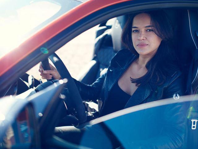 Photo of Michelle Rodriguez ve Jaguar F-Type SVR