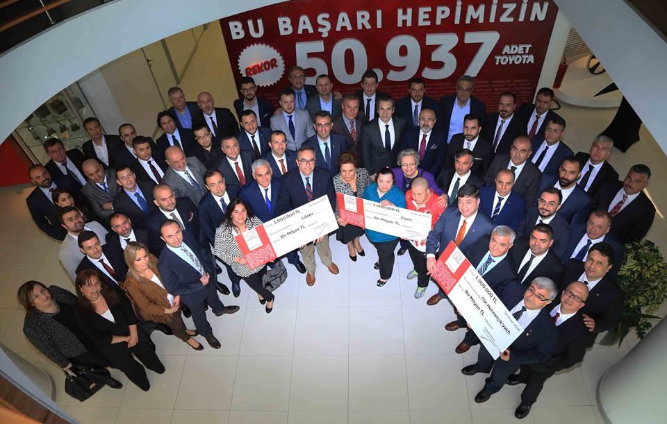 Photo of Toyota Türkiye'den 3 milyon TL'lik bağış