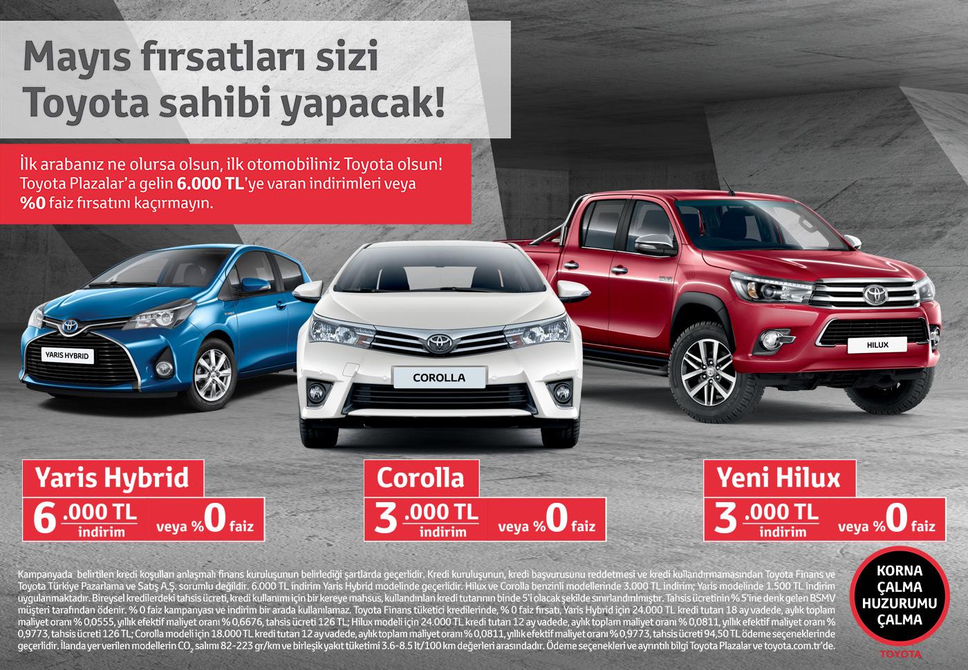 Photo of Toyota'dan Mayıs 2016 kampanyası