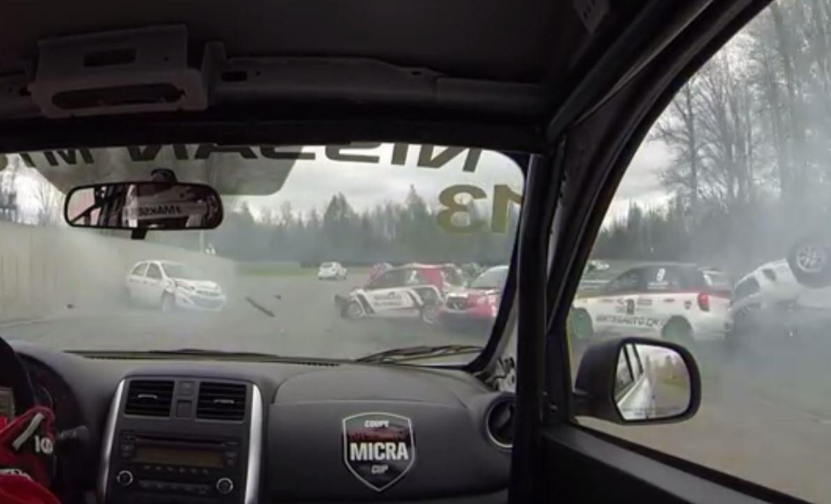 Photo of Nissan Micra Cup'ta yaşanan zincirleme kaza!
