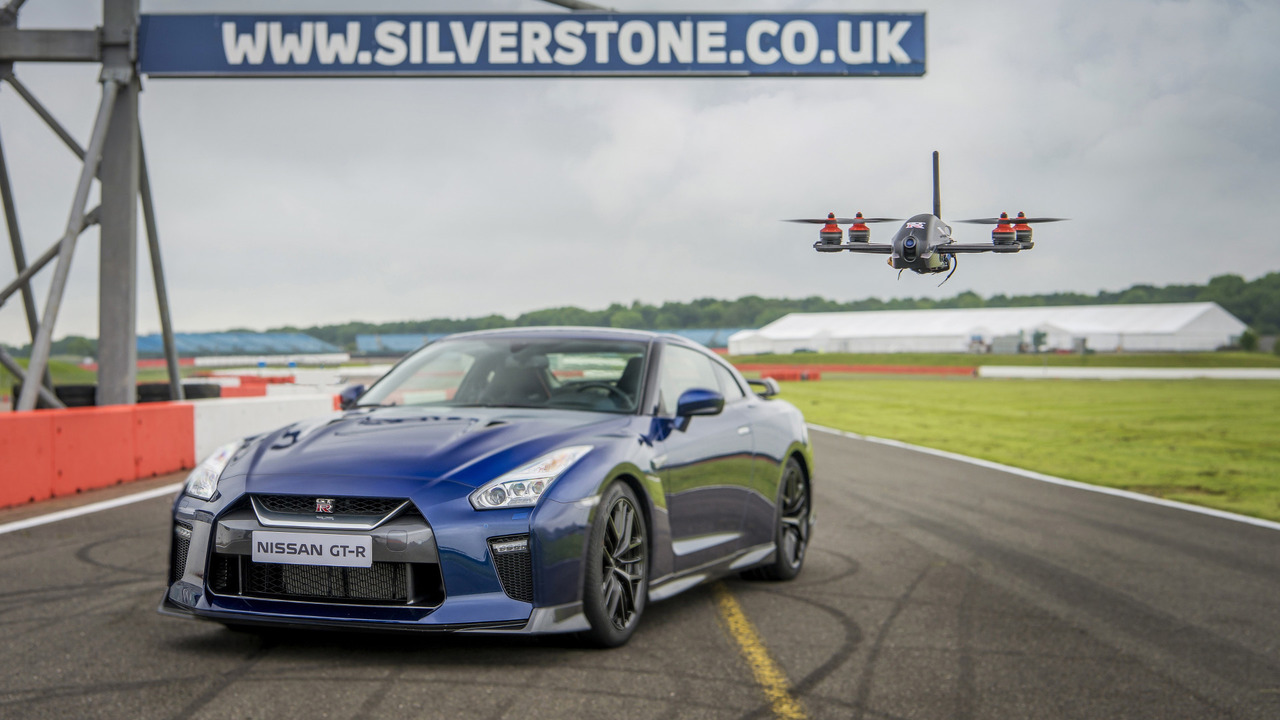 Photo of Nissan GT-R vs. GT-R Drone