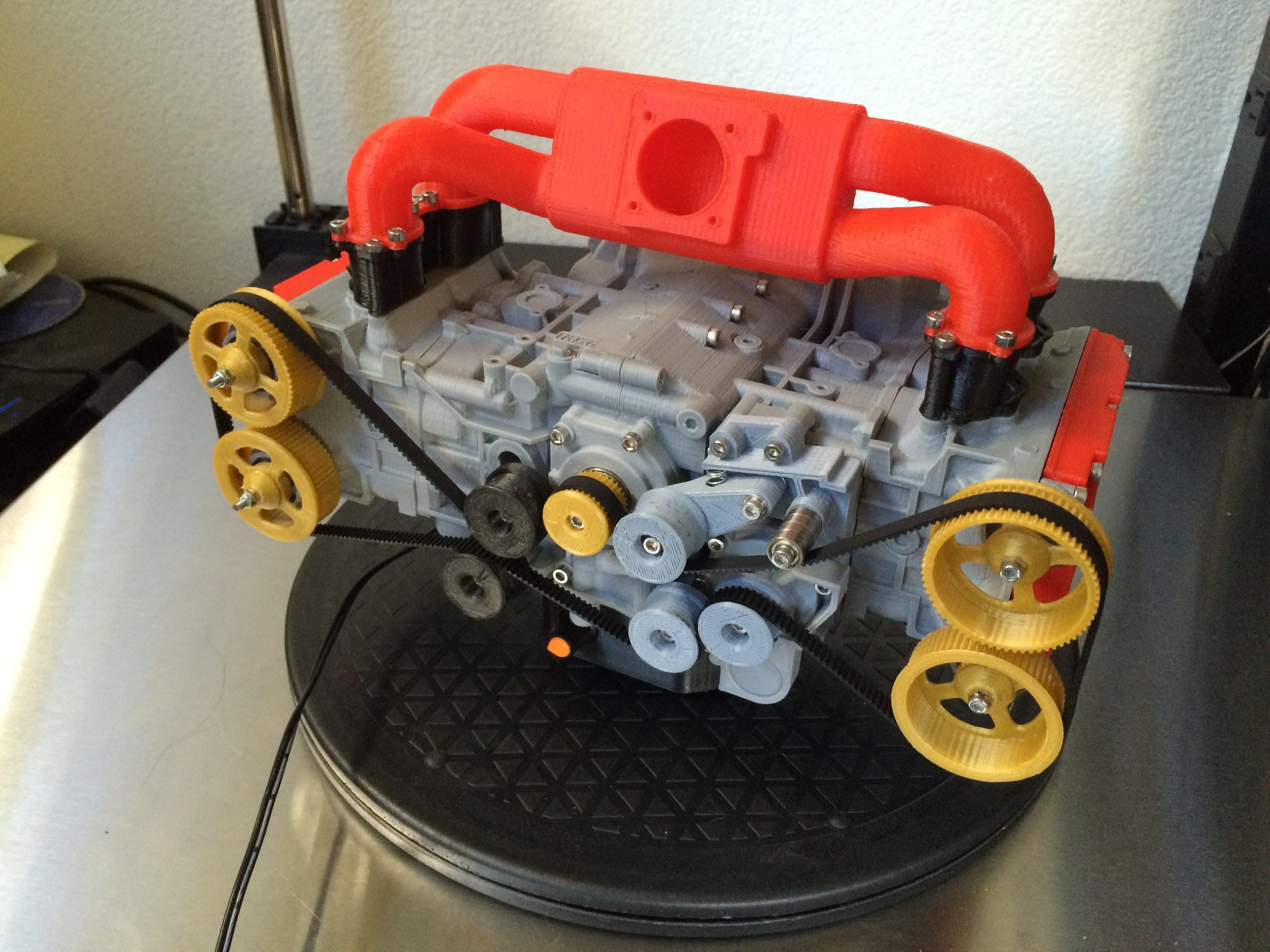 Photo of 3D yazıcı+pistonhead'lik buluşursa: Subaru Boxer Motor modellemesi