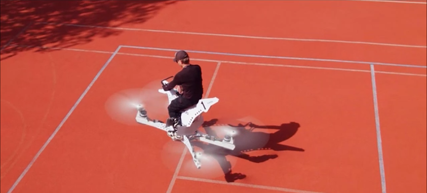 Photo of Hoverbike, Drone-Motosiklet