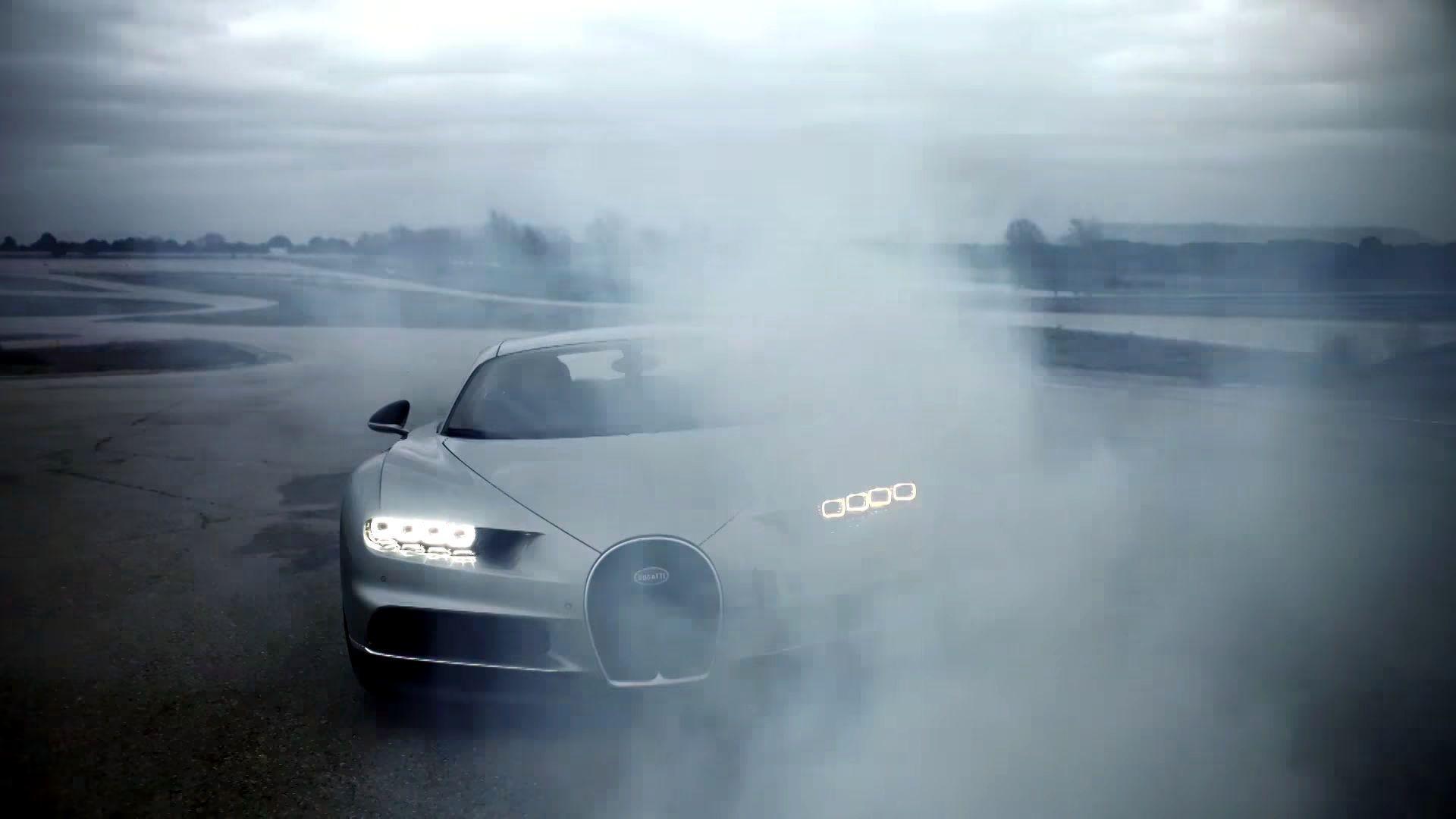Photo of Cristiano Ronaldo Bugatti Chiron'u test etti