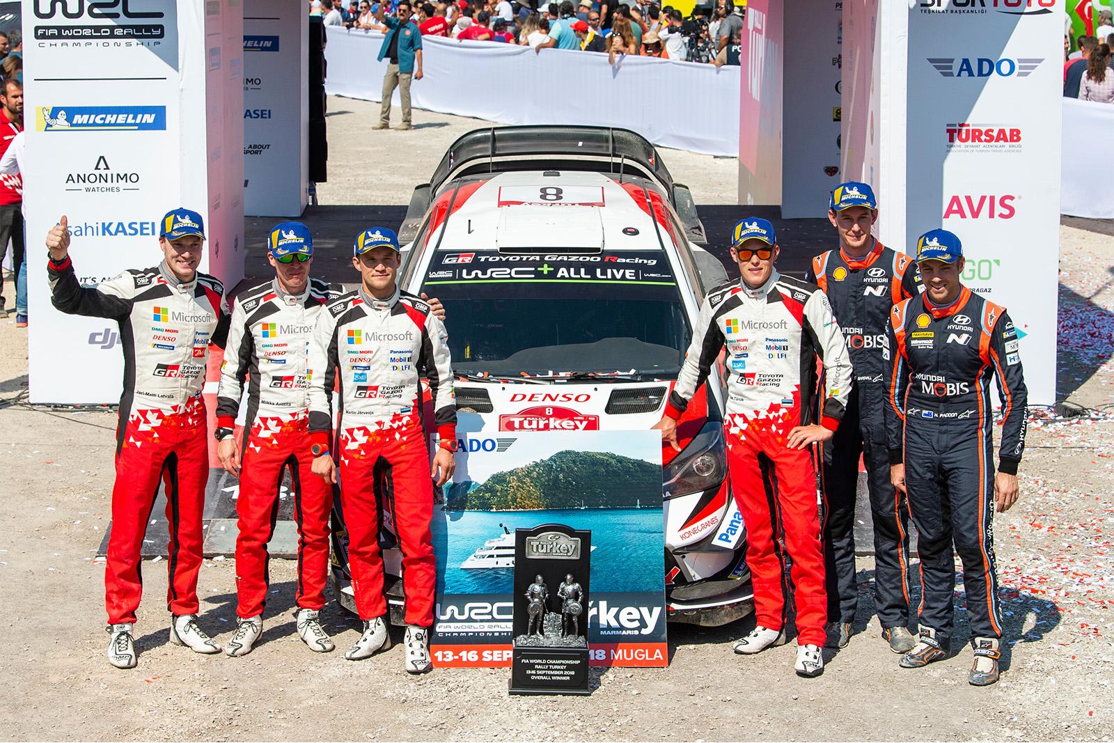 Photo of WRC Türkiye Rallisi'nde Toyota duble yaptı!
